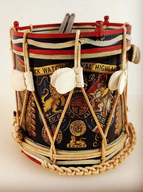 Miniature Regimental Drums - The Black Watch Royal Highlanders