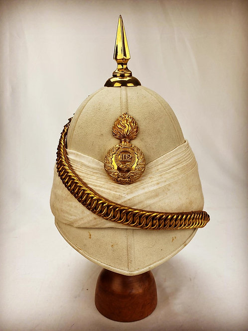 102nd Royal Madras Fusiliers Officers Foreign Service Helmet