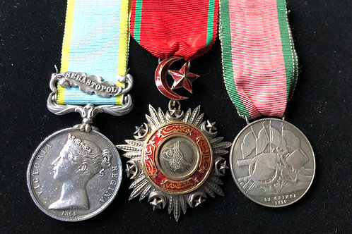 Crimean Medals to Captain Broadley Harrison 10th Hussars