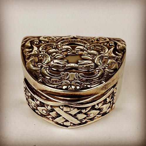 Victorian 11th Hussars Silver Snuff Box