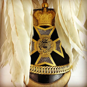 1850 13th Light Dragoons Officers Albert Pattern Shako