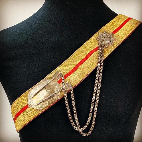 Victorian 12th Lancers Regimental Cross Belt & Pouch