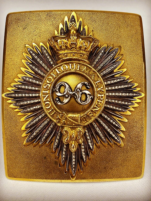 Victorian 96th of Foot Officers Shoulder Belt Plate
