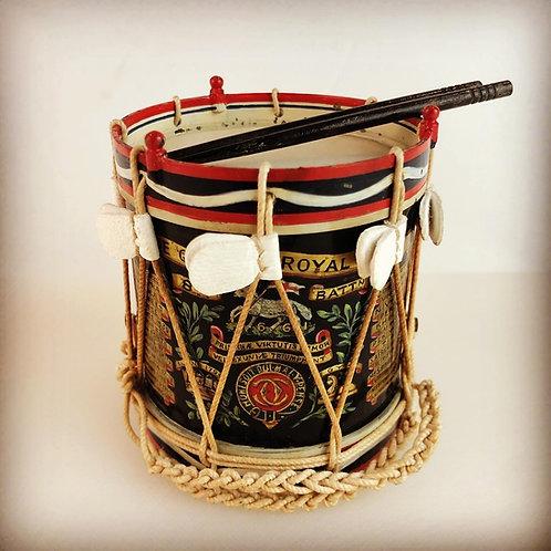 Miniature Regimental Drums - The Queens Royal Regiment