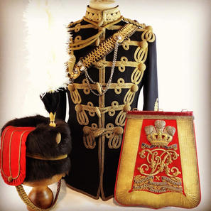 Victorian 10th Hussars Officers Uniform