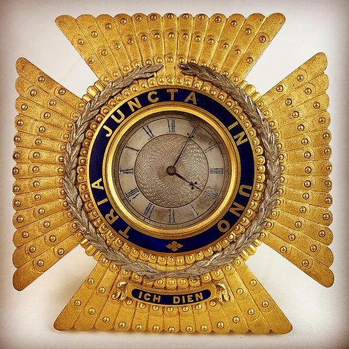 Knight Commander of the Bath - Unique Mantel Clock c1850