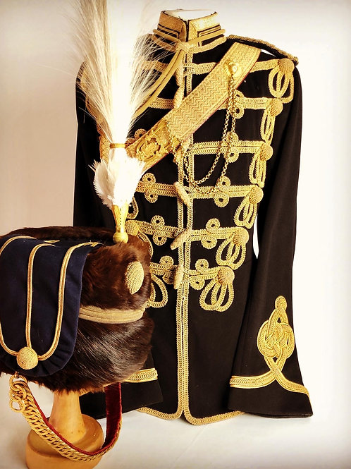 Edwardian 18th Queen Mary's Own Hussars Officers Uniform