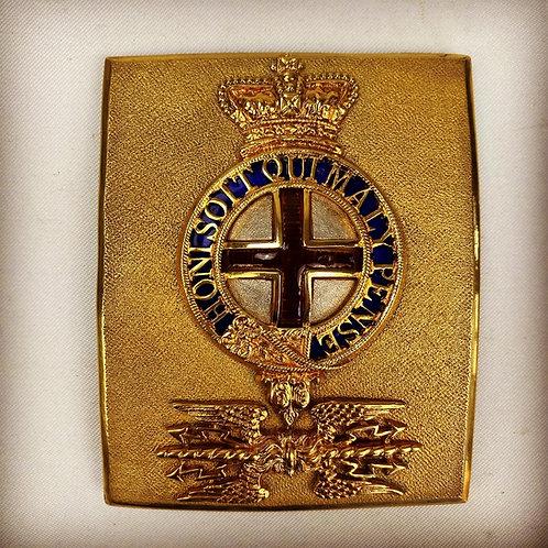 Georgian Royal Artillery Officers Shoulder Belt Plate