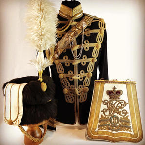 Victorian 13th Hussars Officers Uniform