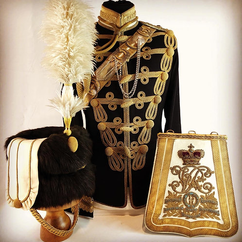 Edwardian 13th Hussars Officers Uniform - Lt Colonel Adolphe Symons