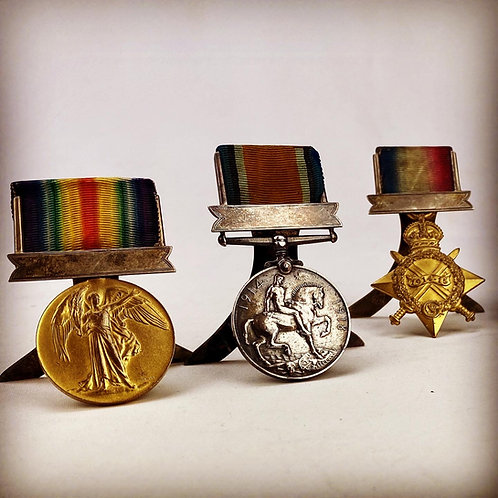 Great War Honourable Artillery Company Medals - Pte CH Hubbard 1st Bn HAC