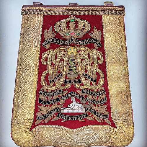 Victorian 11th Prince Alberts Own Hussars Officers Sabretache