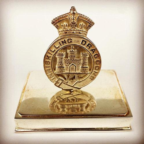 Victorian 6th Inniskilling Dragoons Regimental Menu Holder