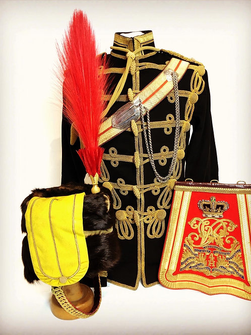 Victorian Officers Uniforms 4th Queens Own Hussars