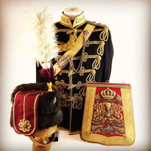 Victorian 11th Hussars Officers Uniform