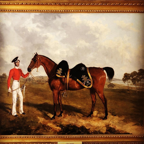 WIVR 17th Lancers Officers Charger and Groom