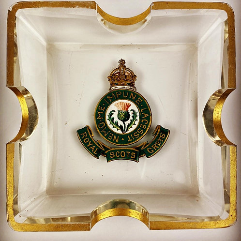 "Edwardian Royal Scots Greys ""Personal"" Ashtray"