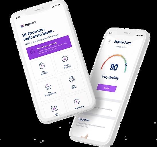 Reperio Health App Screen