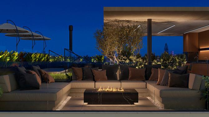 Lounge Externo com Lareira