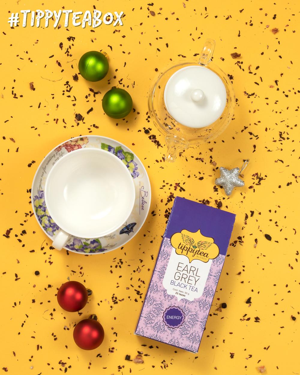 Tetera de Cristal y Porcelana de 3 Piezas & Loose Leaf Tea