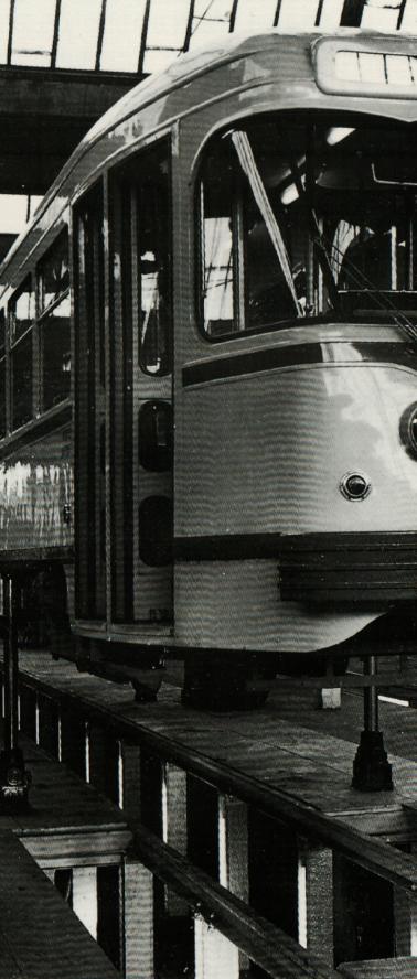 Motrice tramway PCC Brugeoise et Nivelles Bellevue Saint-Etienne