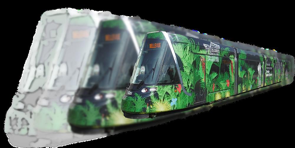 Tramway CAF Urbos 3 Biennale du Design 2019
