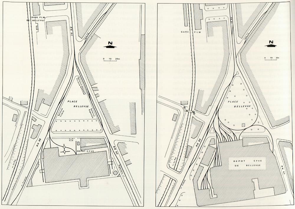 Diagramme dépôt STAS CFVE de Bellevue