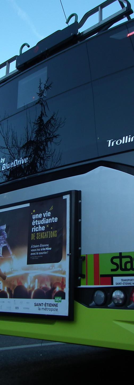 Trolleybus IMC Solaris Trollino Saint-Etienne arrière