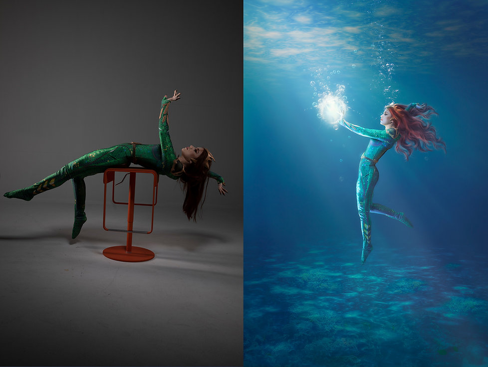 "Cosplay photo edit and after effect ""Mera"" Aquaman"