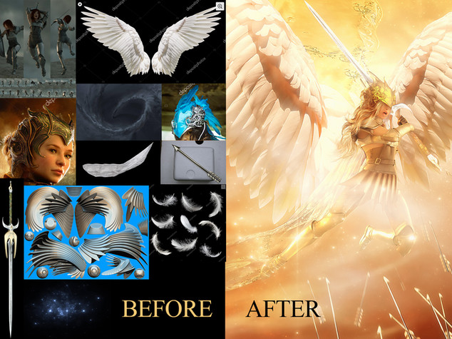 """""""Valkyrie"""" before and after"""