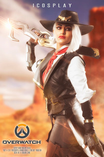 """Ashe"" Overwatch Poster"