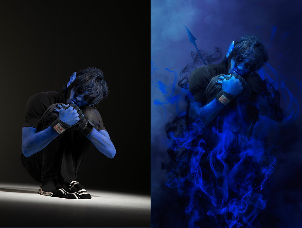 "Professional cosplay photo edit & affter effets ""The Nightcrawler"""