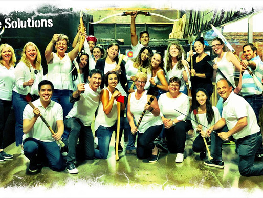 Ready, Aim, Fire!  'Smile Solutions' Team Event