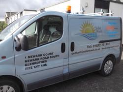 Solar Wash Van