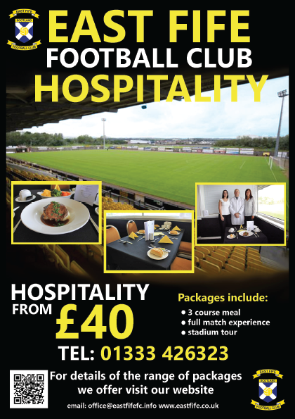 East Fife FC A5 Flyer