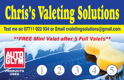 Valeting Card