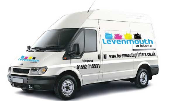 Levenmouth Printers Vehicle Signage and Livery