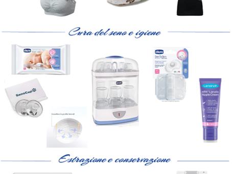 Allattamento al seno – 12 prodotti essenziali