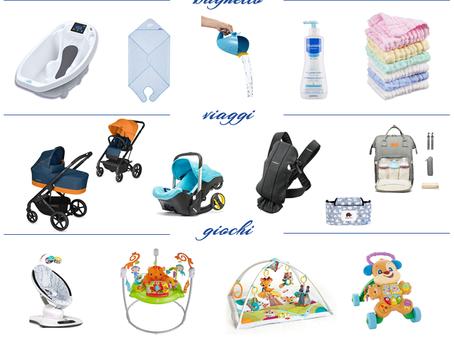 Lista nascita - 20 oggetti essenziali