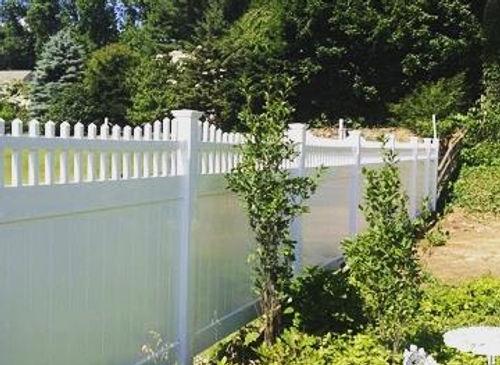 Vinyl Fence pictured
