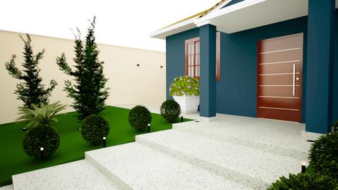 Jardim de fachada