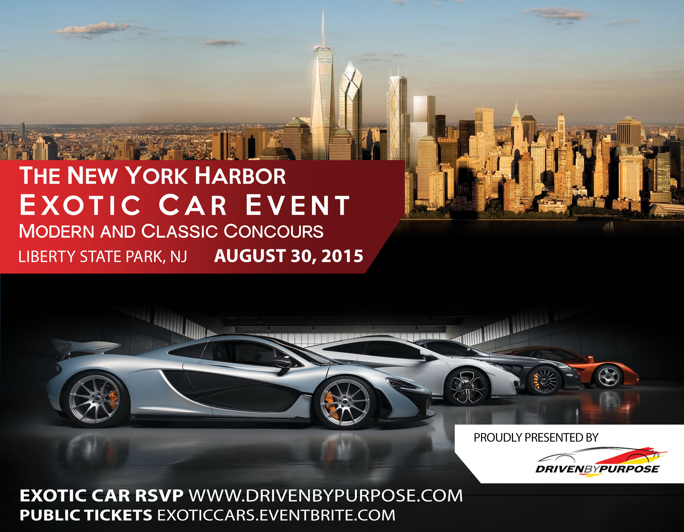 New York Harbor Exotic Car Event