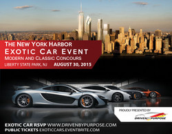 New York Harbor Exotic Car Event