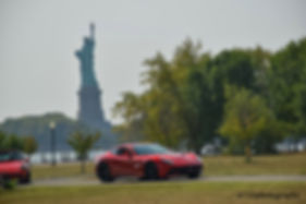 Driven by Purpose, New York Harbor Exotic Car Event, Ferrari, Statue of Liberty