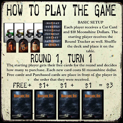 How to play Moonshine Run.
