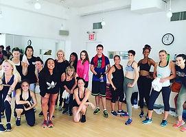 Daniel a Barbora Hamplovi na lekci Nicole Winhoffer v New Yorku