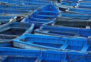Barques traditionnelles Essaouira Maroc