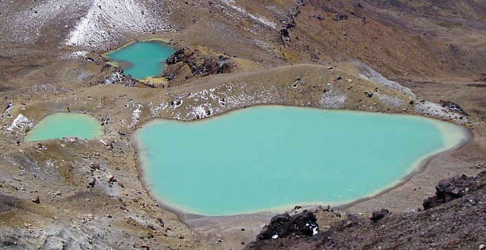Lacs émeraude en Nouvelle Zélande