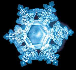 Cristal d'eau congelée