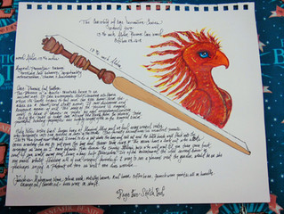 The Curiosity of Wand Core Divination Series-- Sketch & Wand -- Wand Two -- Phoenix Core Wand